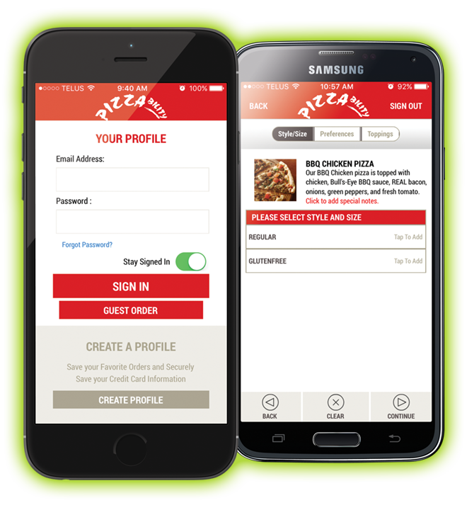Pizzability App on Mobile